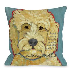 Doggy D�cor Labradoodle 1 Throw Pillow