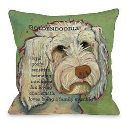 Doggy D�cor Golden Doodle 1 Throw Pillow