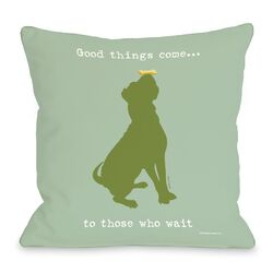 Doggy D�cor Good Things Come Throw Pillow