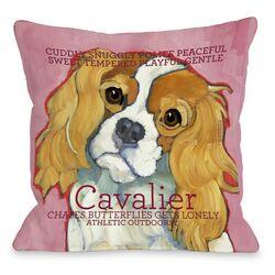 Doggy D�cor Cavalier 1 Throw Pillow