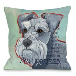 Doggy D�cor Schnauzer 1 Throw Pillow