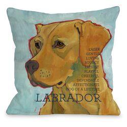 Doggy D�cor Labrador 3 Throw Pillow