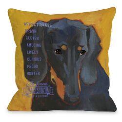 Doggy D�cor Daschund 3 Throw Pillow