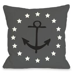 Anchor Circle Stars Pillow