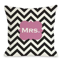 Mrs Chevron Pillow