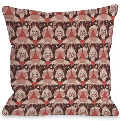 Doggy D�cor Love a Bull Pattern Pillow