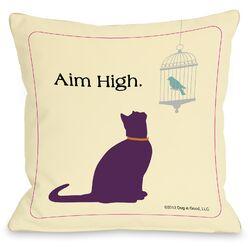Doggy D�cor Aim High Cat Pillow