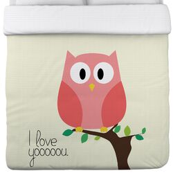 I Love You Owl Duvet Cover