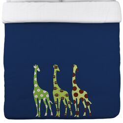 Sports Giraffes Duvet Cover