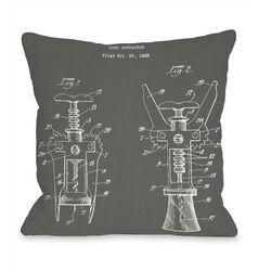 Cork Extractor print Pillow