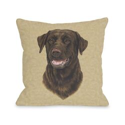 Doggy D�cor Chocolate Lab Head Pillow