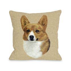 Doggy D�cor Corgi Head Pillow