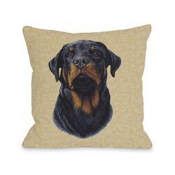 Doggy D�cor Rottweiler Head Pillow