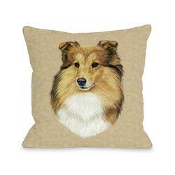 Doggy D�cor Shetland Sheepdog Head Pillow