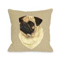 Doggy D�cor Pug Head Pillow