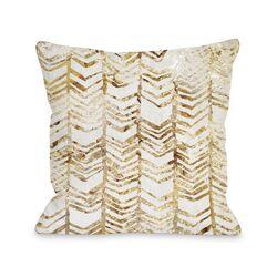 Season Glitter Chevron Pillow
