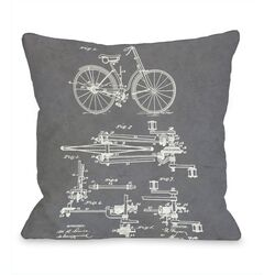 Driving Gear for Bikes Blueprint Pillow