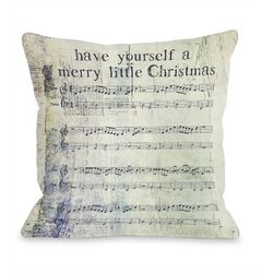 Merry Little Christmas Sheet Music �Pillow