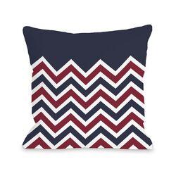 Chevron Solid American Fleece Throw Pillow