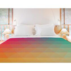 Rainbow Wave Fleece Duvet Cover