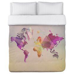 World in Abstract Fleece Duvet Cover