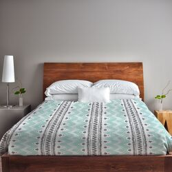 Anya Stripes and Dots Fleece Duvet Cover