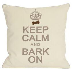 Doggy D�cor Keep Calm and Bark On Throw Pillow