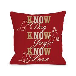 Doggy D�cor Know Dog Throw Pillow
