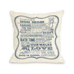 Doggy D�cor Dog Mom Throw Pillow