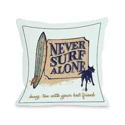 Doggy D�cor Never Surf Alone Pillow