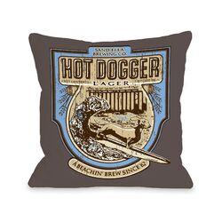 Doggy D�cor Hot Dogger Pillow