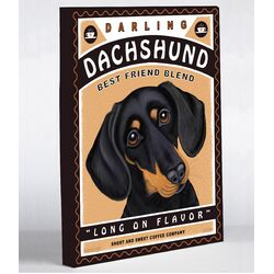 Doggy Decor Darling Dachshund Graphic Art on Canvas