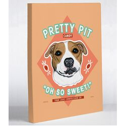 Doggy Decor Pretty Pit Graphic Art on Canvas
