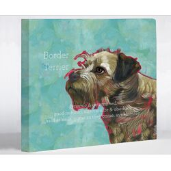 Doggy Decor Border Terrier 1 Graphic Art on Canvas