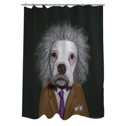 Pets Rock Brain Polyester Shower Curtain