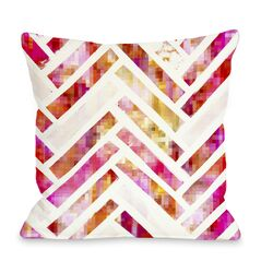 Oliver Gal Sugar Flake Herringbone Pillow