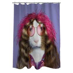 Pets Rock Hippie Polyester Shower Curtain