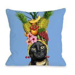 Fruit Pets Rock Fleece Decorative Pillow