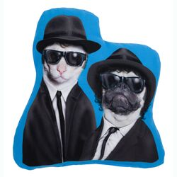 Pets Rock Brothers Shaped Pillow