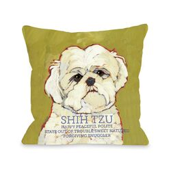 Doggy D�cor Shihtzu1 Pillow