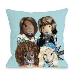 Pets Rock Waterloo Pillow