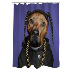 Pets Rock Rap Polyester Shower Curtain