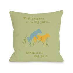 Doggy D�cor Dog Park Pillow