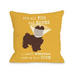 Doggy D�cor Fun and Games Pillow