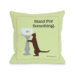 Doggy D�cor Stand For Something Cat Pillow