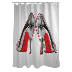 Oliver Gal Fire in Your New Shoes Polyester Shower Curtain
