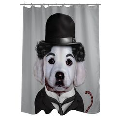 Pets Rock Tramp Polyester Shower Curtain