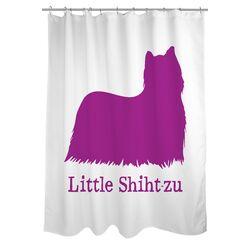 Doggy Decor Little Shihtzu Polyester Shower Curtain