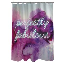 Oliver Gal Perfectly Fabulous Polyester Shower Curtain