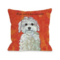 Doggy D�cor Love & A Dog Pillow